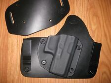IWB/OWB combo Kydex/Leather Hybrid Holster with adjustable retention for Glock
