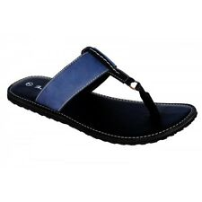 In Rich Brand Mens Blue Casual Leather Sandal 1824