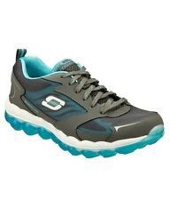 Skechers Brand Womens Charcoal Light Blue Air Shoes