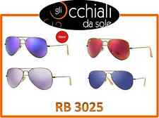 Ray Ban 3025 Aviator Large Metal, occhiali da sole Ray Ban Specchiati