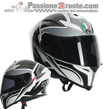 Helmet Agv k-5 Roadracer white black casque integralhelm fiberglass carbon