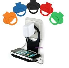 Foldable Mobile Phone MP3 Wall Charger Stand Holder Support Charging Rack Shelf