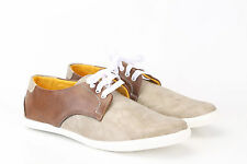 Quarks Men's Stylish Dual Color Derby Shoes - Beige Color - 1047BE