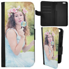 PERSONALISED PHOTO LEATHER CASE COVER FOR IPHONE 8 6S GALAXY S8 S7 Z5 S8 PLUS