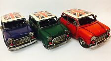 Rustic Diecast Classic Mini Cooper Collection Austin Morris Rally Car Model Gift