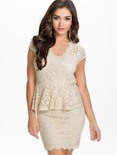 Ladies Sexy Lace Bodycon Top Dress Party Cocktail Prom Dresses Size 10 12