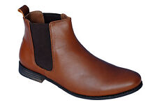 Egoss Brand Mens Tan Hi Ankle Casual Formal Boots Shoes - BP-53