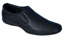 EGOSS BRAND NEW BLACK SLIPONS LEATHER CASUAL FORMAL SHOES BS-020