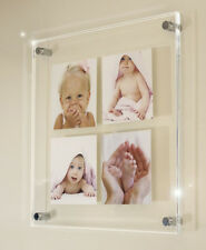 """Cheshire wall  24x24"""" acrylic perspex picture photo frame for 4x 10x10"""" pixi"""