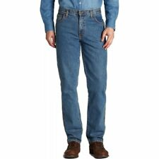 "Mens Wrangler Texas Regular Fit Stretch 36"" Leg Jeans Stonewash All Sizes Availa"