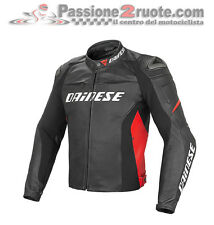 Giubbotto Dainese Racing D1 pelle nero rosso black red moto leather jacket