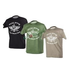 T-Shirt Maglietta Militare ISRAEL SPECIAL FORCES Forze Speciali - Nera Verde Tan