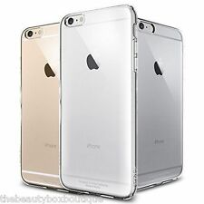 """Apple iPhone 6 6s 4.7"""" Clear Crystal Colour Hard Back / Gel Case Cover   (p7)"""