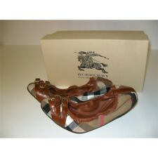 BURBERRY BALLERINE N.36 HOUSE CHECK CON BRIGLIA MARRONE SCARPE DONNA SHOES