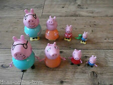 PEPPA PIG FAMILY FIGURES PEPPA GEORGE MUMMY PIG DADDY PIG CAKE DECORATIONS?