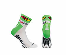 Calze Calzini Estivi Northwave Mod.SPEED White/Green Fluo/SUMMER SOCKS NORTHWAVE
