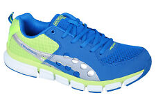 COLUMBUS BRAND MENS BLUE GREEN MEMORY CARD CASUAL LACE SPORTS SHOES