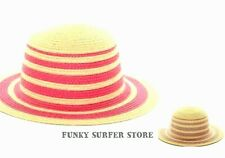WOMENS STRIPEY SUMMER STRAW SUN HAT PACKABLE CRUSHABLE HATS  BUCKET HATS CAPS