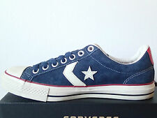 CONVERSE ALL STAR - STAR PLAYER EV - 118770 NAVY-BLU CAMOSCIO BASSE CHUCK TAYLOR