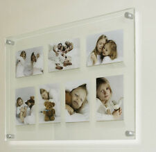 "Acrylic/perspex  20x28"" x10mm floating picture photo frame for 7x 5x7"" picture"