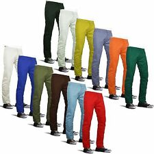 "Mens Straight Leg Chinos Jeans Pants Trousers Summer Sizes 30"" - 40"" Waist"