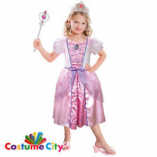 Childs Girls Pale Pink Fairytale Princess Fancy Dress Costume And Accessories