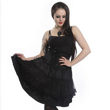 Skirt black lace Jupe Corset noir Poizen Industries Elizium Gothic Gothique Dark