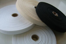 Herringbone Cotton Webbing Fabric Strap Tape, Choice of Width, Length & Colour