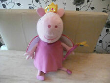 PEPPA PIG LARGE TY PLUSH FAIRY PRINCESS PEPPA GEORGE WITH DINO PEPPA WITH TED