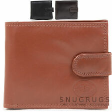 Mens Soft Leather Bi-Fold Wallet with Multiple Practical Features