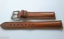CORREA RELOJ 14,16 MM PIERO MAGLI PIEL MARRON HEBILLA ACERO WATCH LEATHER STRAP