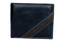 Woodland Mens Black Original Leather Wallets - W522004