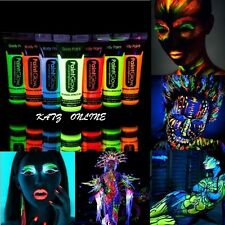 Katz UV Face & Body UV Paint 10ml PaintGlow Rave Glow Under UV Light Halloween