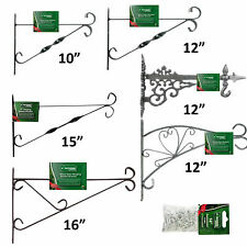 "Hanging basket brackets, choice of styles and sizes 10"" 12"" 15"" 16"" Decorative"