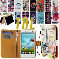 Flip Stand Card Wallet  Leather Cover Folio Case For Various THL Smartphones