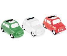 Classic Fiat 500 Ceramic Money Box in Red White or Green New, Boxed & Genuine