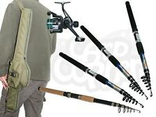 Carp Coarse & Sea Travel Fishing Rod & Reel Set up Fishing Rod 6 8 10 or 12 ft
