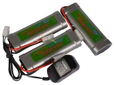 3x Batteria 5300mAh 7.2V ricaricabile per RC Toy aircaft + Caricabatterie