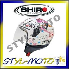 CASCO MOTO SCOOTER ABS DEMI JET SH-20 TRES CHIC UOMO DONNA BAMBINO YS YM YL S M