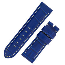 Panerai Style Alligator Embossed Watch Strap in ROYAL BLUE