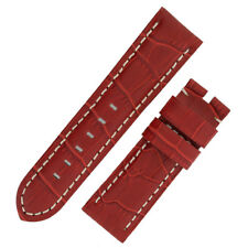 Panerai Style Alligator Embossed Watch Strap in RED