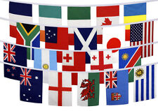 Rugby World Cup 2015 20 Country Flags Set Bunting Table Flags Waving Large 5 x 3