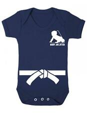 "Baby Playsuit ""Jiu Jitsu Baby with White belt "" Jiu Jitsu Karate Kid- Baby Grow"