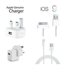 GENUINE APPLE MAINS CHARGER PLUG USB LIGHTNING DATA CABLE FOR IPHONE IPAD IPOD