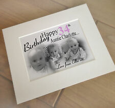 Personalised print and mount for photo frame, 34th birthday or any age?? gift