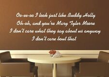 Weezer Buddy Holly Song Lyrics Music Wall Art Decal - Sticker Quote