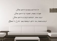 Oasis Roll With It Song Lyrics Music Wall Art Decal - Sticker Quote