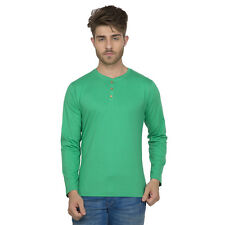 Clifton Men's Henley Cotton Full Sleeve T-Shirt - Stump Green
