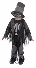 CHILD BOYS SKELETON #GRAVE DIGGER HALLOWEEN HORROR COMPLETE OUTFIT FANCY DRESS