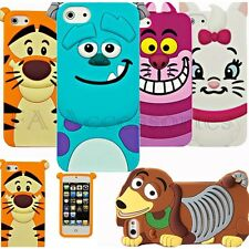 Cute 3D Cartoon Animal Silicone Back Case For iPhone 8 7 6s 6 6s+ 6 SE 5S 5 4s 4